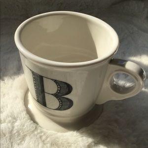 """Anthropology Monogram Mug Initial """"B"""""""